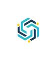 circle technology group communication logo vector image