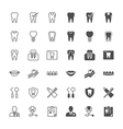 Dental icons vector image