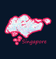 flat map of singapore vector image