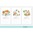 Fruits and Vegetables Thin Line Icons Set vector image