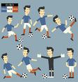 Fun football player Euro 2016 vector image