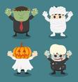 Halloweenfront set 2 vector image
