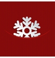 modern snowflakes on red knitted vector image