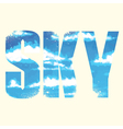 Sky sign vector image