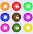 Forklift icon sign Big set of colorful diverse vector image