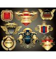 gold heraldry elements vector image vector image