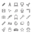 25 outline universal design icons vector image