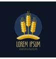 wheat bread logo design template farm or vector image