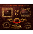 vintage gold frames ornament set vector element de vector image vector image