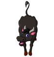 cute buffalo cartoon vector image vector image