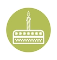 Birthday cake sign icon vector image