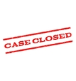 Case Closed Watermark Stamp vector image