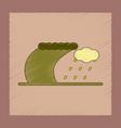 flat shading style icon tsunami storm vector image