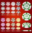 gambling chips set vector image