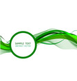 green wave abstract background graphic design vector image