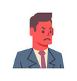 male angry emotion icon isolated avatar man facial vector image
