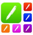 marker pen set color collection vector image