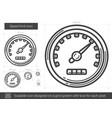 speed limit line icon vector image
