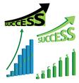 success graphs vector image