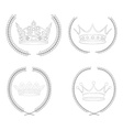 Set of crowns vector image