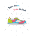 flat sneaker style hipster vector image vector image