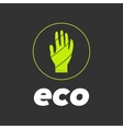 eco hand in circle vector image