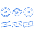 Ok stamps vector image vector image