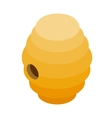 Beehive isometric 3d icon vector image