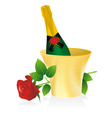 bottle of champagne vector image