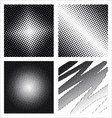 Set of different abstract halftone vector image