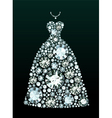 Diamond Wedding Dress vector image