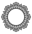 Indian Henna floral tattoo round pattern - Mehndi vector image