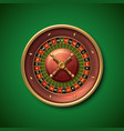 las vegas casino roulette wheel isolated vector image