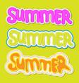 summer lettering summer sticker with handwritten vector image