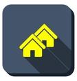 Village Longshadow Icon vector image