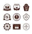 Handmade White Brown Badges vector image