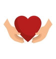 icon insurance heart health design vector image