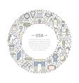 Web Banner or Emblem USA vector image