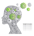Head of person is full of fine ideas creative car vector image
