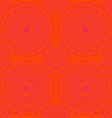 circle pattern orange vector image vector image