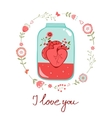 Concept love card vector image
