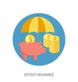 Deposit Insurance Flat Icon vector image vector image