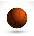 basket ball and shadow vector image vector image