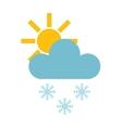 Snow cloud vector image