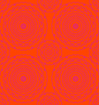 circle pattern orange vector image