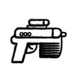 figure pistol military army to protection in the vector image