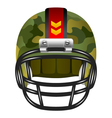 Football helmet with camouflage vector image