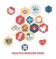 Health and medical signs concept vector image