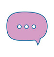 isolated ellipsis speech bubble vector image