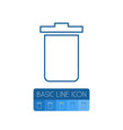 isolated trash bin outline garbage container vector image